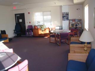 Men's facility recreation room